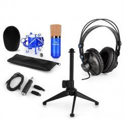CM001BG Mikrofon-Set V1 Kopfhörer Kondensatormikro blau