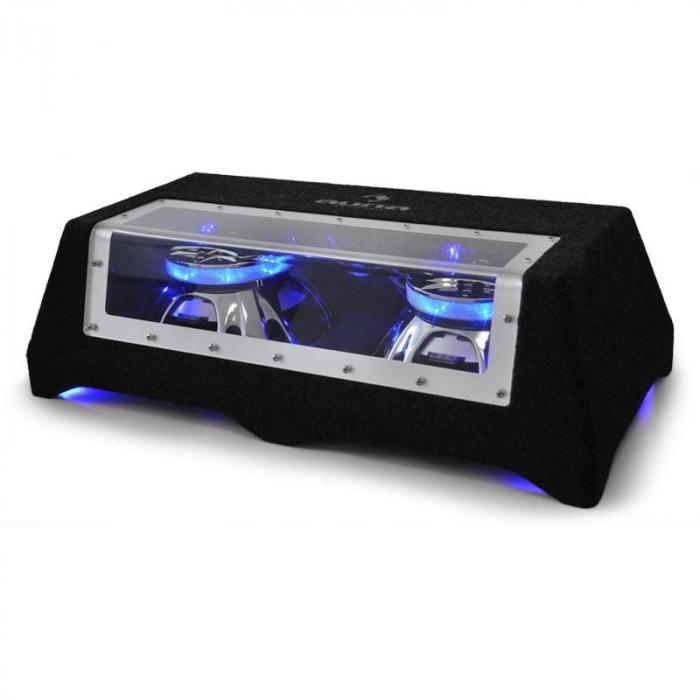 "C8-Sub-2x12-LED 30cm (12"")-Car-Audio-Doppel-Subwoofer 2 x 800W"