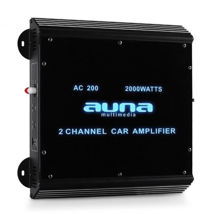 W2-AC200 2-Kanal Auto-Endstufe Car Verstärker 2000W Acryl