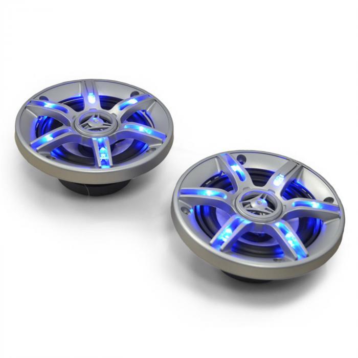 CS-LED4 10cm-Auto-Lautsprecher 2x250W max. Lichteffekt