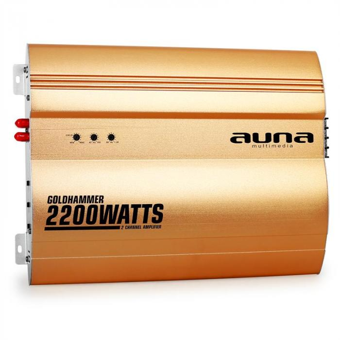 Goldhammer 2-Kanal Auto Endstufe 2200W