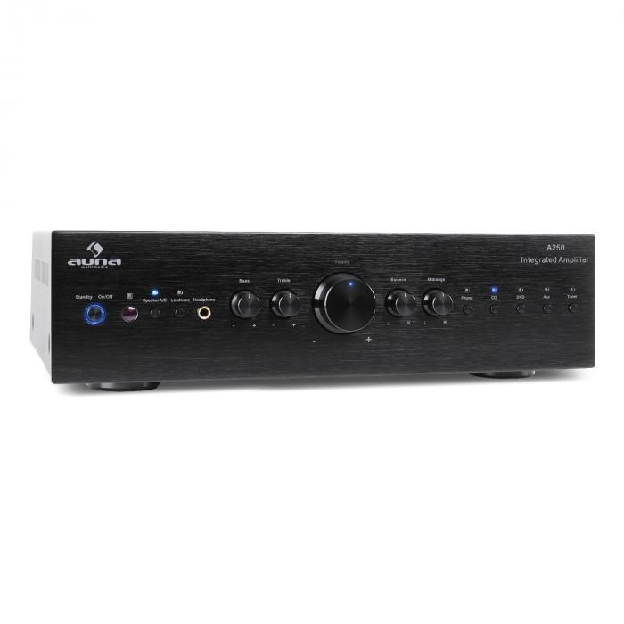 CD708 HiFi-Stereo-Verstärker AUX schwarz 600W