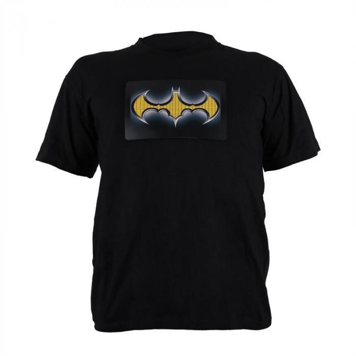 T-Shirt LED 2-Farben Batman Design Größe XL