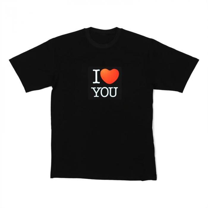 LED-Shirt I LOVE YOU Größe XL