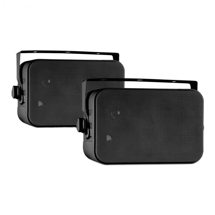 CB105 passive 2-Wege-Lautsprecher 20W max. Paar schwarz inkl. Montagebügel