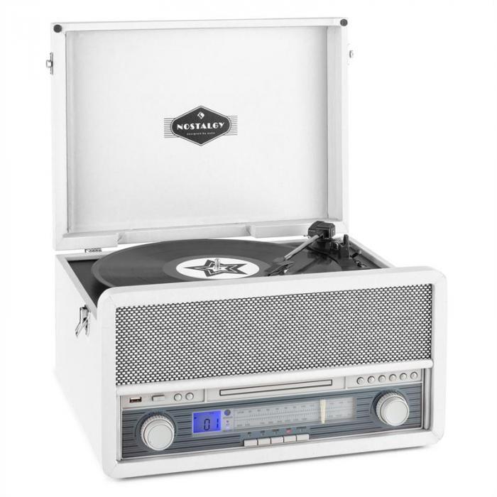 Belle Epoque 1907 Retro-Audiosystem Plattenspieler Kassette Bluetooth USB C