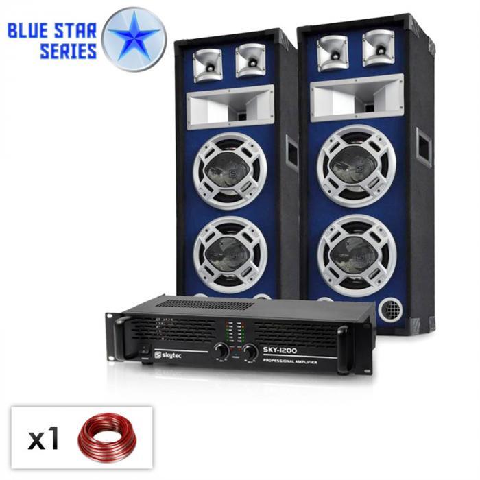 """PA Set Blue Star Series """"Bassboom"""" 1600 Watt"""