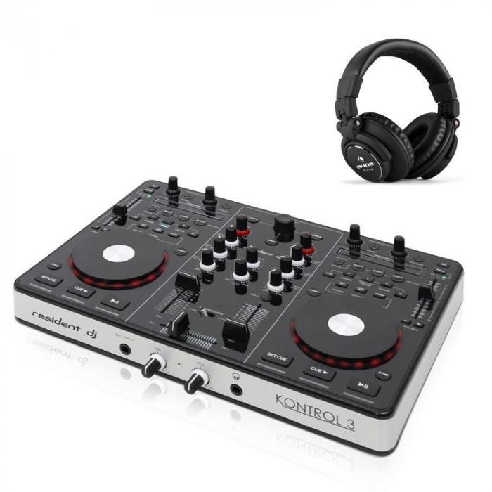 Kontrol 3 USB-MIDI DJ-Controller Soundkarte mit DJ Kopfhörer