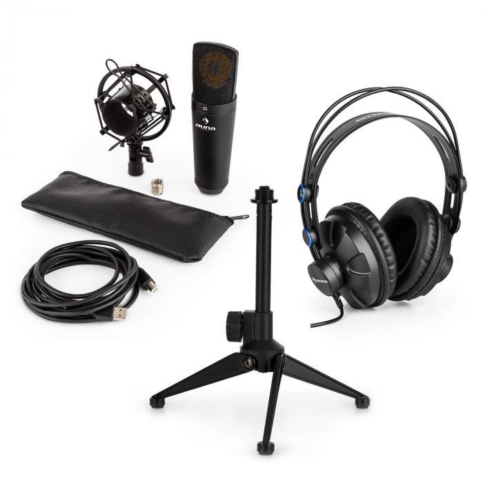 MIC-920B USB Mikrofon-Set V1 Kopfhörer Kondensatormikro Stativ
