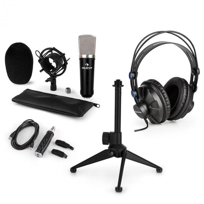 CM003 Mikrofon-Set V1 Kondensatormikrofon USB-Konverter Kopfhörer