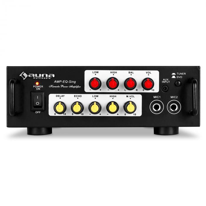 AV1 Amp-EQ Karaoke-HiFi-Verstärker 400Wmax. PA-Endstufe Equalizer