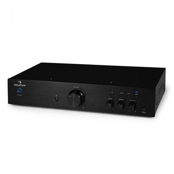 AV2-CD508 HiFi-Verstärker Stereo Edelstahl 600W max. Fernbedienung schwarz