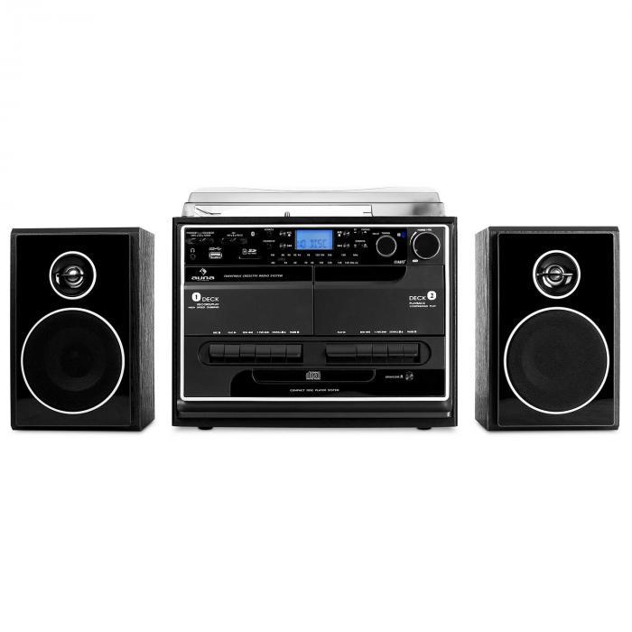 388-BT Stereoanlage Plattenspieler Kassette Bluetooth
