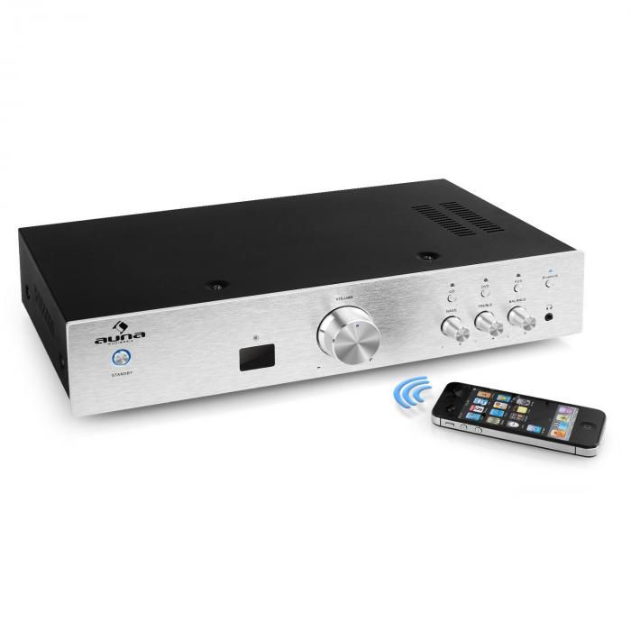 AV2-CD508BT HiFi-Verstärker 600Wmax. AUX Bluetooth silber