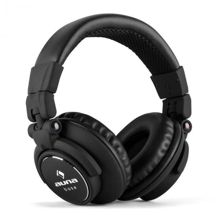 Base DJ Kopfhörer geschlossen klappbar - schwarz