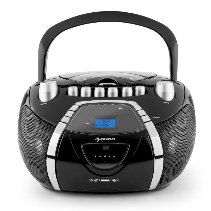 Beeboy Ghettoblaster CD MP3 USB schwarz