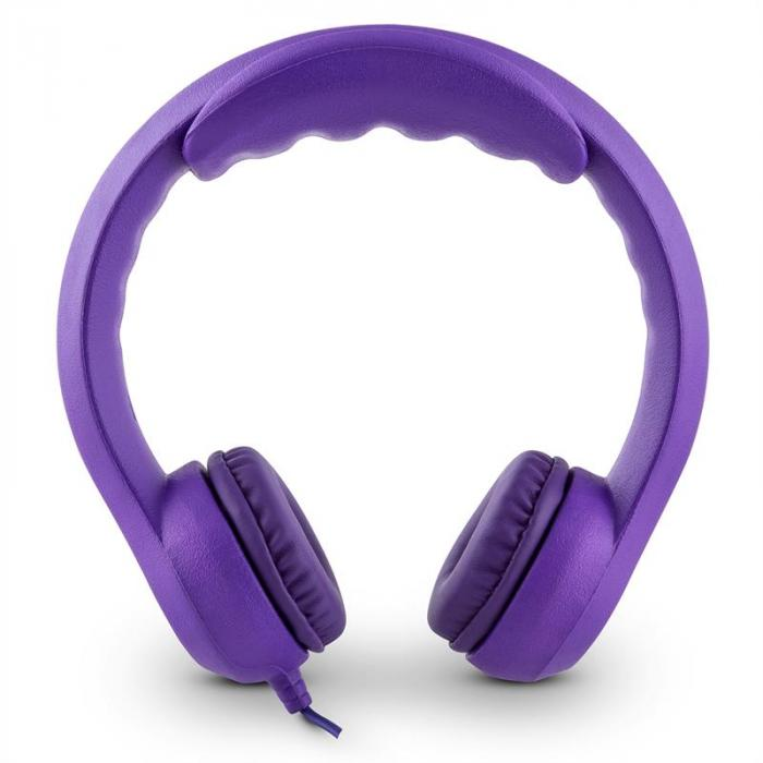 Flexi Kinderkopfhörer max. 85 dB ultraflexibel biegsam violett