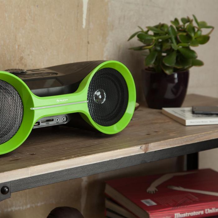 Boombastic Bluetooth-Boombox USB SD MP3 AUX UKW LED