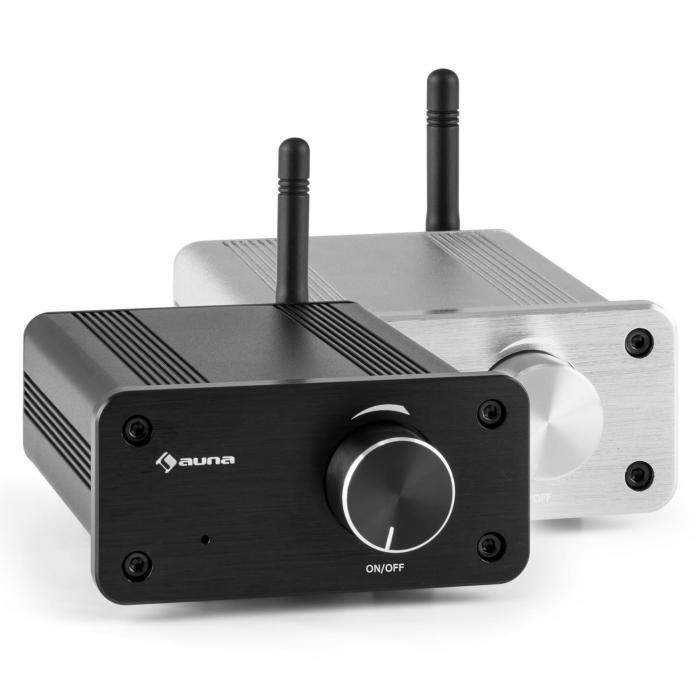BT-Bro Mini-Stereo-Verstärker Class-D Bluetooth Aluminium schwarz