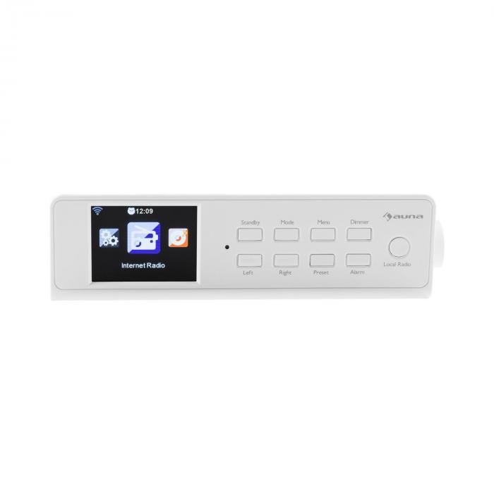 """KR-190 Internet Unterbauradio WiFi App-Steuerung 3,2"""" TFT-Display weiß"""