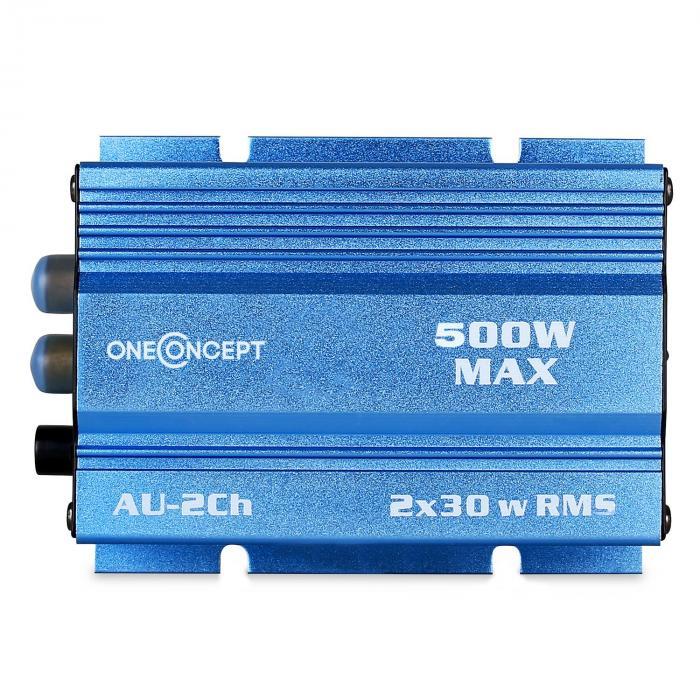 """Car Hifi Set """"Potsdam"""" 2.0 System 600W Mini Amp & LED Boxen"""