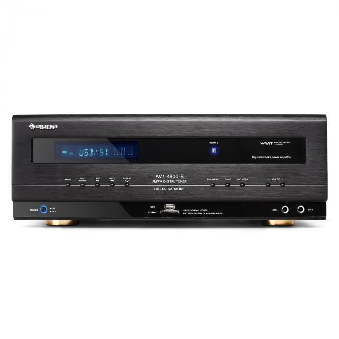 HiFi-Receiver USB-SD-MP3 Surround-Verstärker 390W RMS