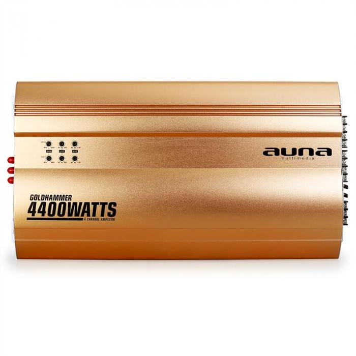 Goldhammer 4-Kanal Auto Endstufe 4400W max.