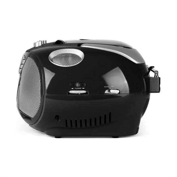 KrissKross Ghettoblaster USB MP3 CD FM portabel schwarz