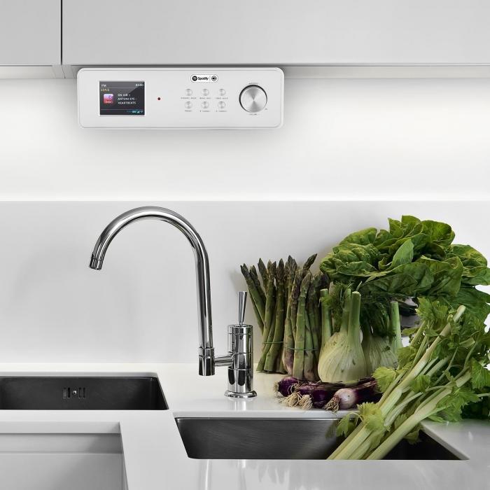 KR 200 Küchenradio Internetradio Spotify Connect WiFi DAB+ UKW RDS AUX silb