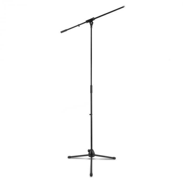 KM 01 BK Mikrofon-Set 4 tlg. Mikrofon Ständer Klemme Kabel 5m schwarz
