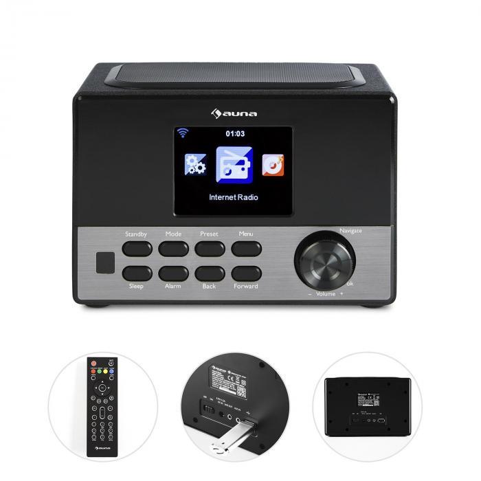 """Connect 90 BK Internetradio WLAN AUX 3,2""""-TFT USB App Control Line-Out"""