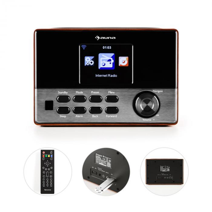 """Connect 90 WD Internetradio WLAN AUX 3,2""""-TFT-Farbdisplay Line-Out"""