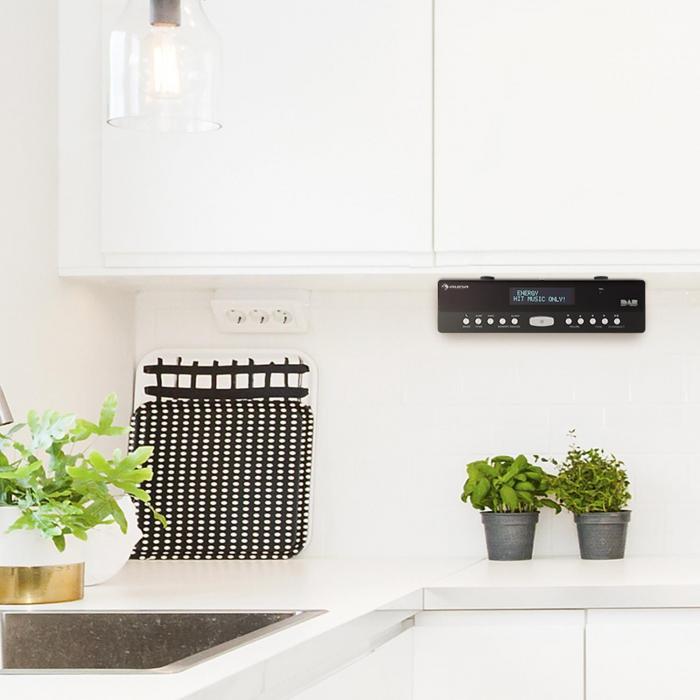 KR-100 DAB Küchen-Unterbauradio DAB+ FM Bluetooth Freisprechfunktion