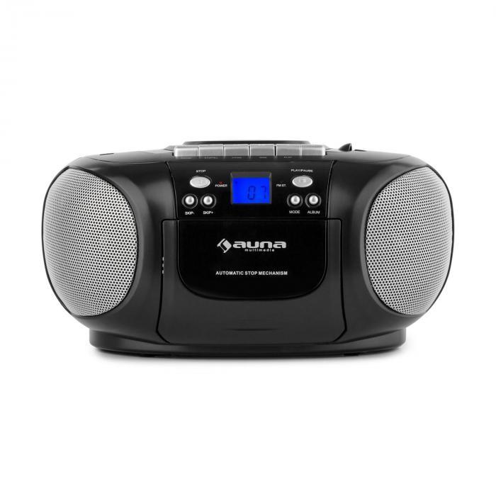 BoomBoy Boom Box Ghettoblaster Radio CD/MP3-Player Kassettenplayer schwarz