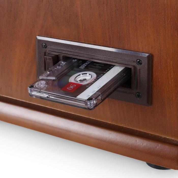Belle Epoque 1908 Retro-Microanlage USB CD MP3 Vinyl Holzgehäuse