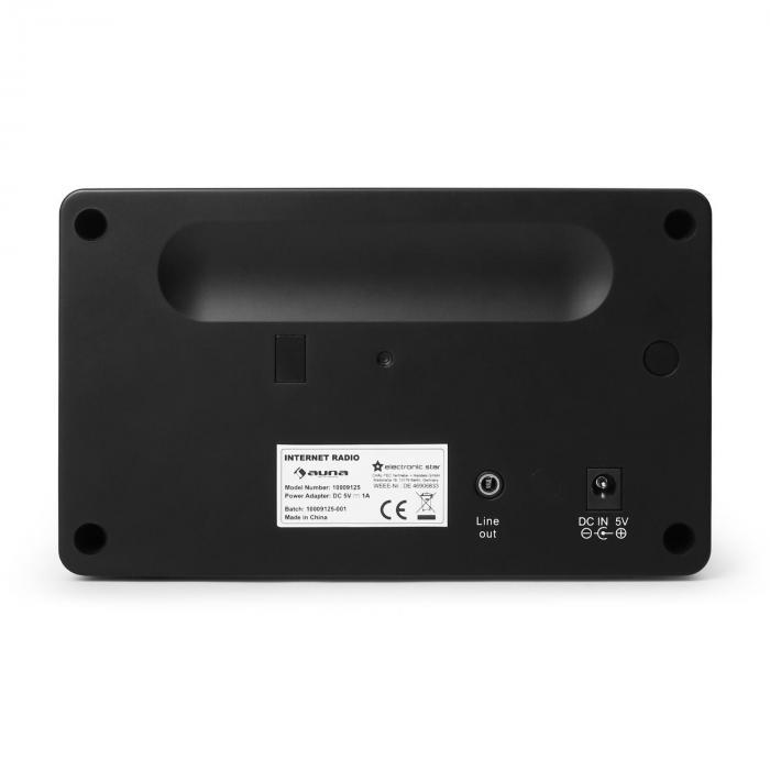 IR-130 Radio Internetradio W-LAN Streaming schwarz