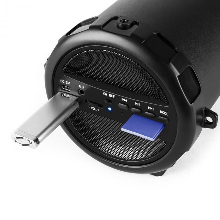 Dr. Beat 2.1 Bluetooth-Lautsprecher USB SD AUX UKW Akku schwarz