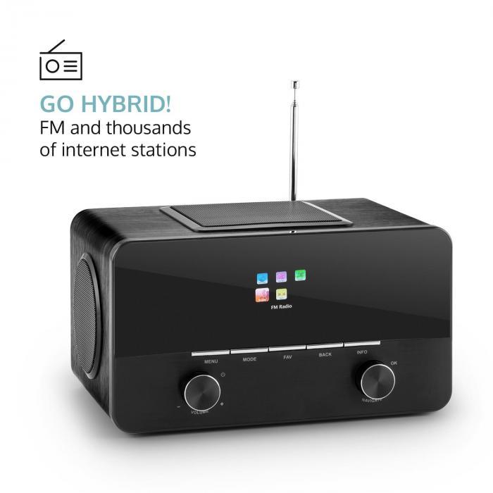 Connect 150 BK 2.1-Internetradio Mediaplayer WLAN LAN USB DAB+ UKW