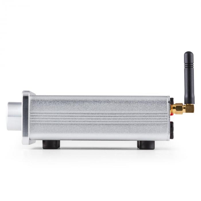 BT-Bro Mini-Stereo-Verstärker Class-D Bluetooth Aluminium silber