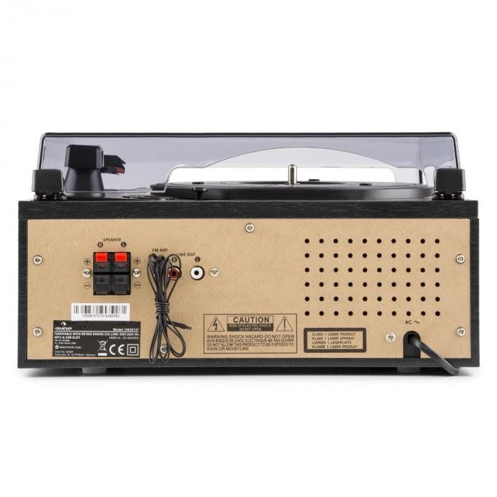 Blackwood Stereoanlage Plattenspieler USB MP3 Encoding CD Kassette UKW AUX