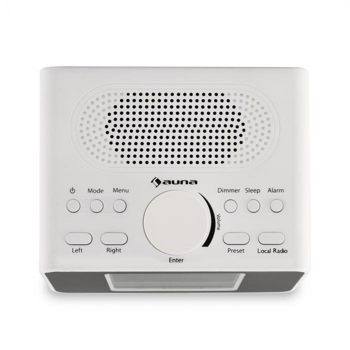 "i-snooze Internetradio Radiowecker WLAN USB 3,2"" TFT-Farbdisplay weiß"