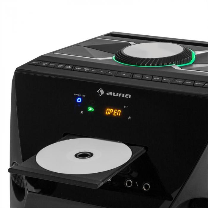 Brooklyn Beat mobile Party-Box 100W RMS Bluetooth USB SD CD-Player UKW LED