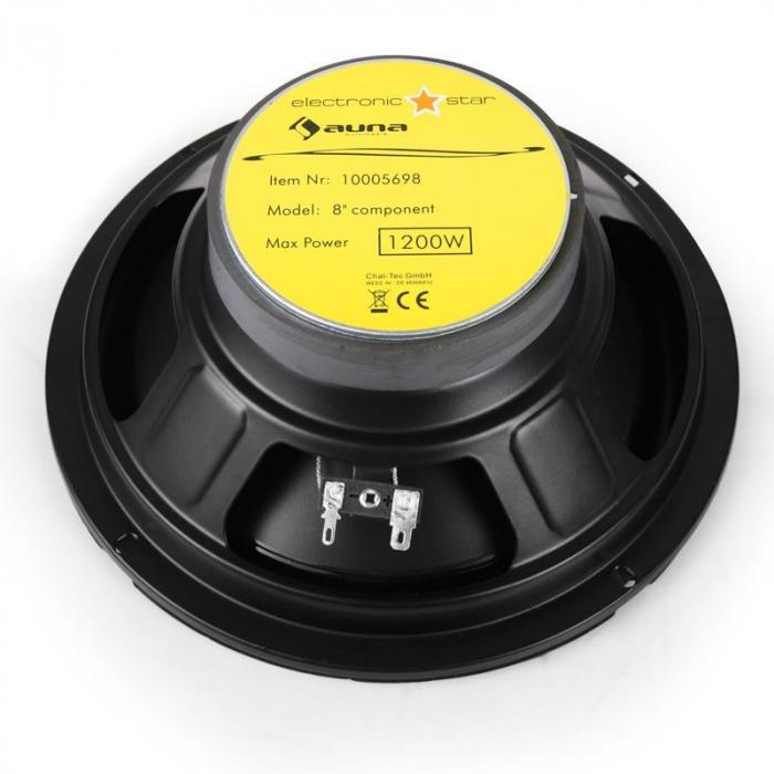 CS-Comp-8 Car-HiFi-Lautsprecher Komplettset 4800W max. inkl. Kabelage