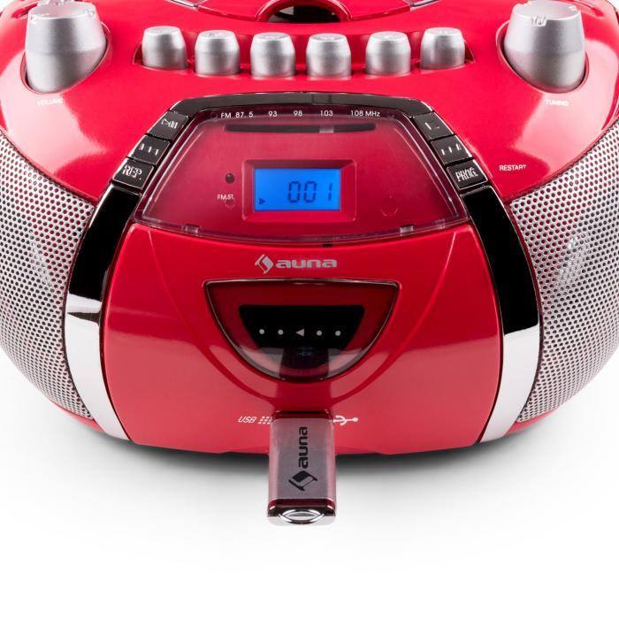 Beegirl Ghettoblaster CD MP3 USB rot