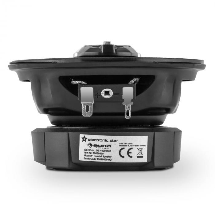 "CS410 4-Wege-Koaxial-Lautsprecher 10cm (4"") 80W Karbon Bronze Design"