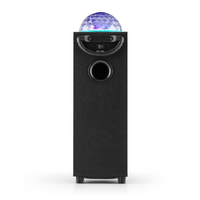 DiscoStar Blue portabler 2.1-Bluetooth-Lautsprecher USB Akku LED Mikro