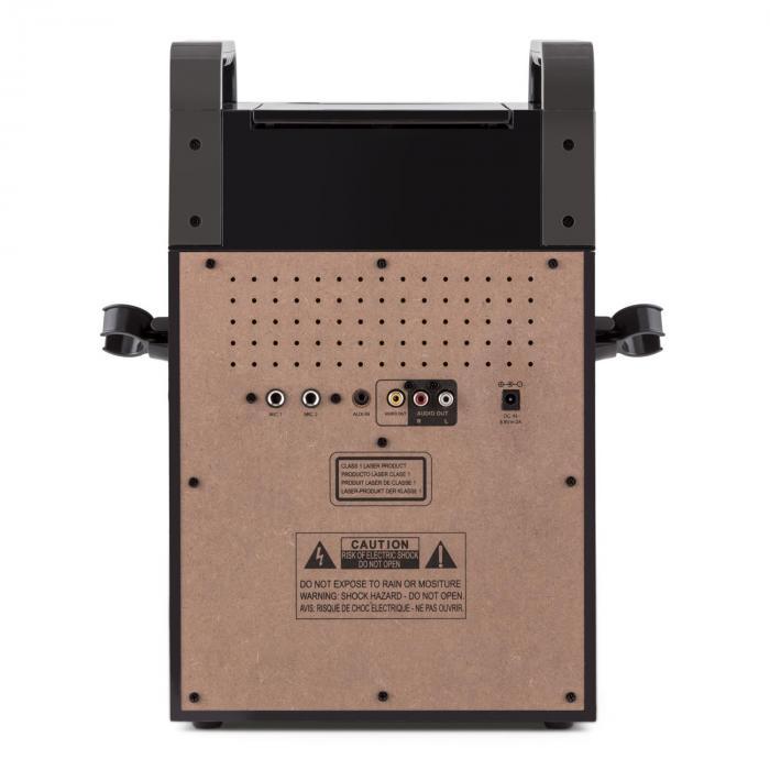 KA8B-V2 Karaokeanlage CD-Player 2x Mikrofon schwarz inkl. 3x Karaoke-CD