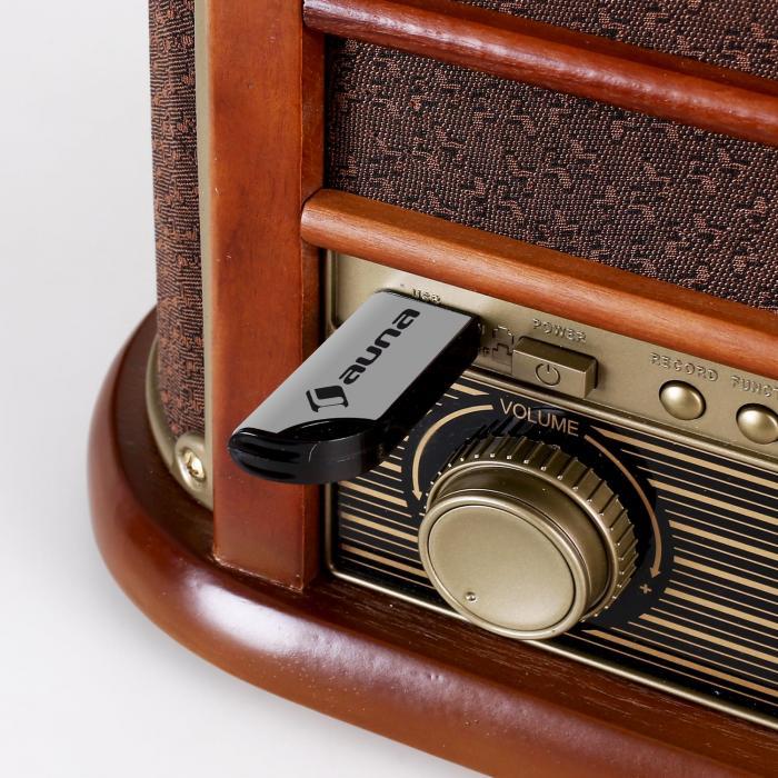 Belle Epoque 1908 Retro-Stereoanlage Bluetooth USB CD MP3
