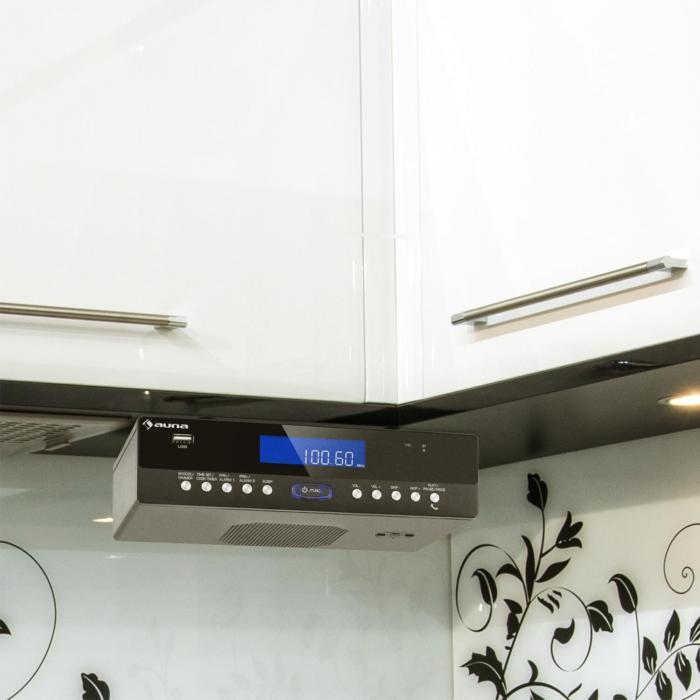 KR-100 BK Küchen-Radio Unterbau Bluetooth USB MP3 Freisprechfunktion