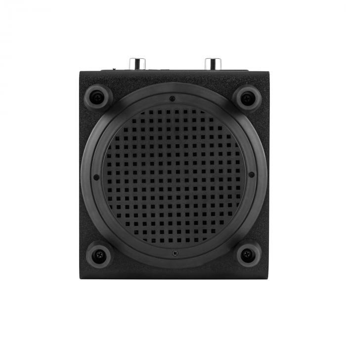DiscoStar Black portabler 2.1-Bluetooth-Lautsprecher USB Akku LED Mikro
